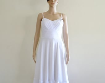 White Evening Dress .Bridesmaid Dress. Party Dress