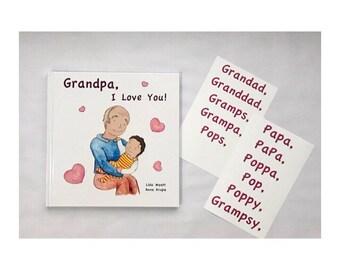 Grandpa, I Love You! -dark haired child