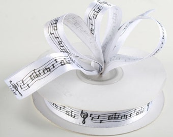 Music Notes Satin Ribbon or Quill Pen & Holder