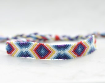 friendship bracelet in ethno/boho style ~ with strass ~ rainbow ~ festival bracelet