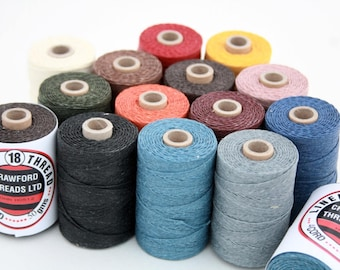 Waxed Linen Thread, 4-ply, Crawford, 50g Spool, Irish Linen Thread