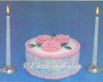 Birthday cake crochet pattern. Instant PDF download!