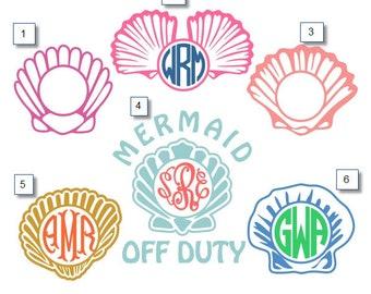 Sea Shells Monogram Decals