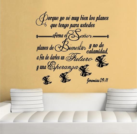 Favoritos Wall Decal. Bible Scripture Jeremias 29:11. Vinilos QH54