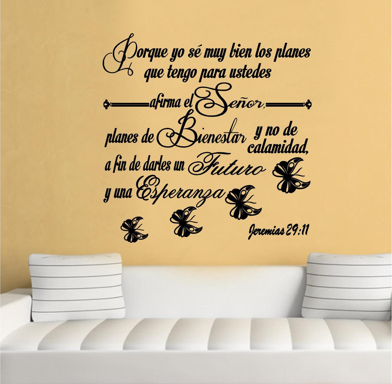 Wall Decal. Bible Scripture Jeremias 29:11. Vinilos