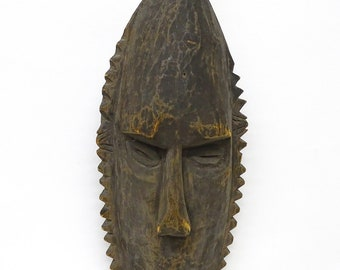 Hand Carved Wooden New Guinea Mask#2