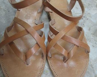 Sandals Women's,Women's Sandals,Summer, Handmade Sandals,Ladies Sandals,Greek Sandals,Gladiator Sandals, Leather Sandals,TRISKEL Natural