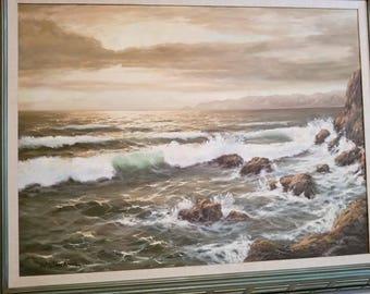 Beautiful coastal scene painting.