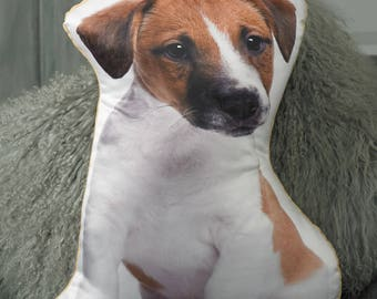 Adorable Jack Russell Shaped Cushion