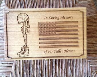 Fallen Heroes Wooden Box