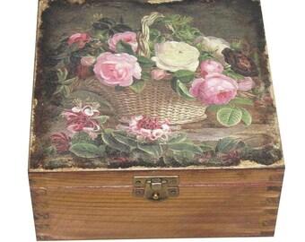 Tea bag storage Wooden tea box Tea storage box Tea chest Tea bag holder Decoupage Wood tea box Tea caddy Tea gift box Tea lover gift