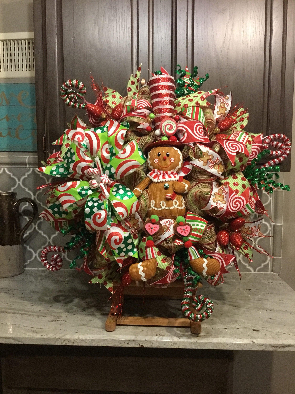 Gingerbread Wreath Gingerbread Decorations Door Decor