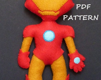 PDF patter to make a felt Iron Man.