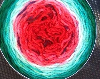 Gradient Socks/Mitts Watermelon