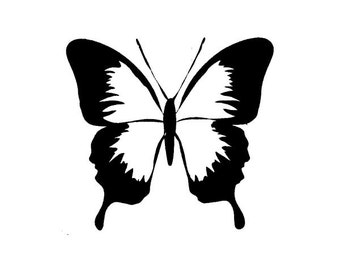 Butterfly UNMOUNTED rubber stamp, spring, summer, Sweet Grass Stamps #23