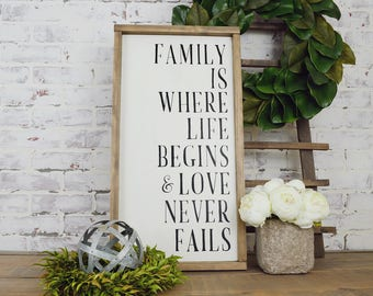 Family Rustic Framed Sign, Rustic Home Decor, Farmhouse Decor, Farmhouse Signs, Fixer Upper Decor, Fixer Upper Signs, Family Signs