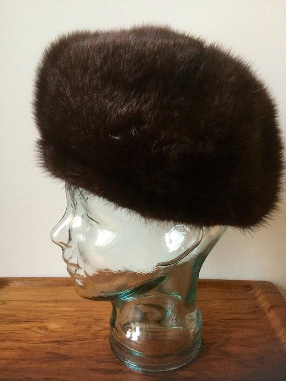 Vintage fur hat /vintage/fur/soft /lined/ladies/winter hat/great shape/Swedish/Scandinavian