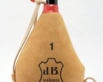 Spanish Straight Bota Bag Leather Wineskin Handmade in Spain Wine Skin