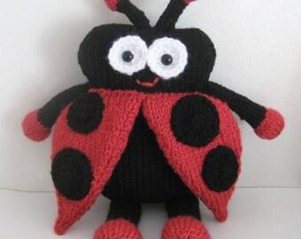 Sale - Amigurumi Knit Lady Bug Pattern Digital Download