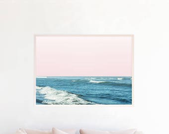 Ocean Art, Ocean Decor, Ocean Print, Ocean Photography, Beach Decor, Beach Wall Art Print, Printable, Digital Download, Ocean Waves Art b8cp