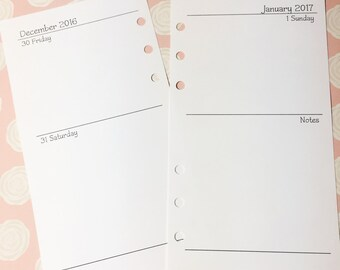 Personal 2 Day Per Page Planner Inserts