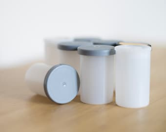 10 Empty Film Canisters with caps. Perfect for storage and crafting. Repurpose. Recycle.