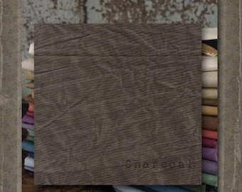 Fabric 1 YARD: Over-dyed Aged Muslin Cloth (New) - Charcoal 0145 Marcus Fabrics