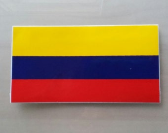 Colombia flag Bandera Vinyl Decal Sticker NEW