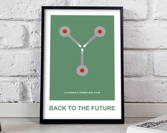 Back to the future poster, Back to the future print, Flux Capacitor, Back to the future art Time machine print, Delorean,  Gift poster