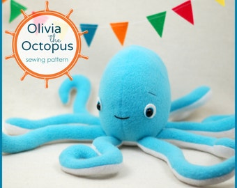 Olivia the Octopus - PDF Sewing Pattern