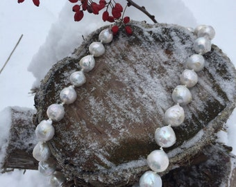 Blister Pearl Hand-Knotted Heirloom Necklace