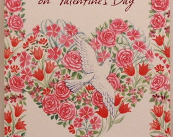 NEW! Vintage Valentine's Day by Freedom. Single Greeting Card with Envelope.