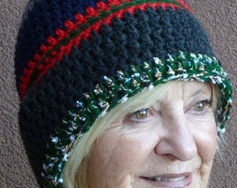 Women's winter beanie in colors galore, chic and beautiful crochet skullcap in grays, green, red and blue, ski hat with style