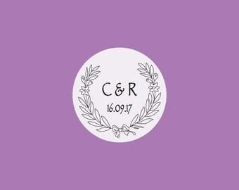 35 Custom Initial stickers