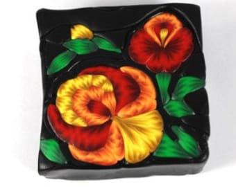 Polymer Clay Folk Art Flower Cane Tutorial