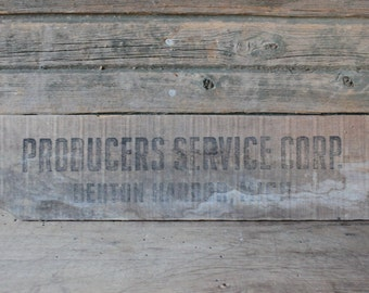 Producers Service Corp. wooden crate slat