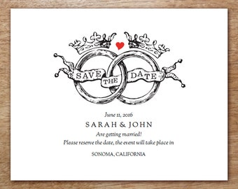 Printable Save The Date Card   Save The Date Template   Instant Download   Save  The