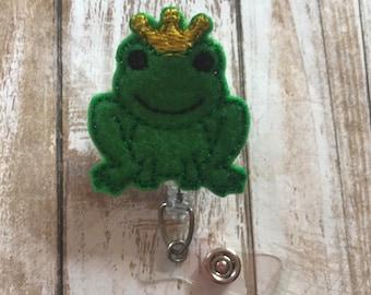 Frog Badge Reel | Frog | Princess Charming Badge Reel | Princess Charming | ID Badge Reel | ID Badge Holder | Badge Reel | Animal Badge Reel