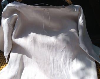 Rustic Victorian 1850's Linen Shirt Handmade French Farmhouse Dress Large Primitive Nightgown #2 #SophieLadyDeParis
