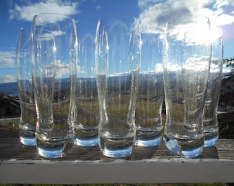 "Crystal Beer Glasses 'Melrose Pilsner' 646-563, 18 Ounce, Made in Slovakia, 2-5/8"" Diameter x 8-5/8"" Tall, Set of 7"