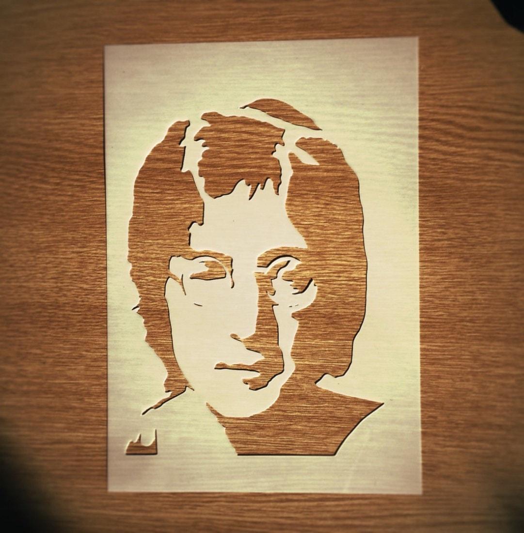 John Lennon STENCIL for home wall interior decor / the Beatles