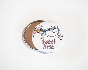 Sweet Arse Mirror   Pocket Mirror