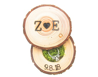 Wood Ring Box | Wedding Ring Box | Engagements Ring Holder | Marriage Proposals