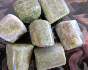 Vesuvianite Tumbled Gemstone, Crystals - Reiki, Healing, Metaphysical, Heart Chakras You receive 1 LG. or Med. Chunky Stone + Reduced S/H