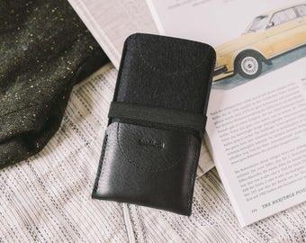 "Case for Google Pixel XL, Wallet, leather, wool felt, ""Kangaroo"""