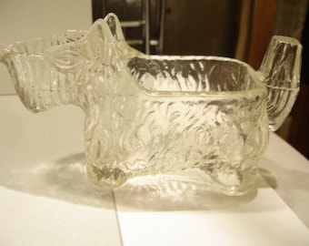 Vintage 1930's Glass CREAMER SCOTTIE DOG, Scotty, Scottish Terrier, Candy Container Packaging Prize