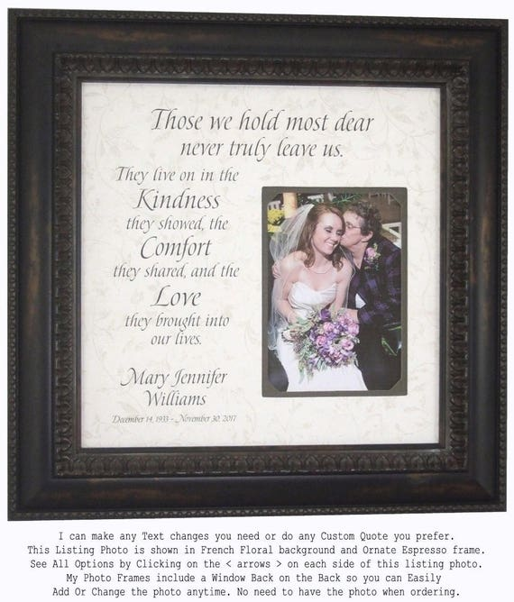 Personalized Memorial Frame In Memory Of Picture Frame