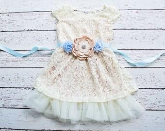 Boho flower girl dress,  Flower Girl Dresses, Champagne flower girl dress, Bohemian Weddings,Bohemian Flower Girl Dress,Champagne Boho Dress
