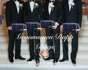 Navy Men's Toiletry Bag , Dopp Kit , personalized Men's travel Bag , Groomsman Gift , Groomsmen gift bag, embroidered gifts