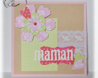 Card, Happy Mother's day, scrapbooking